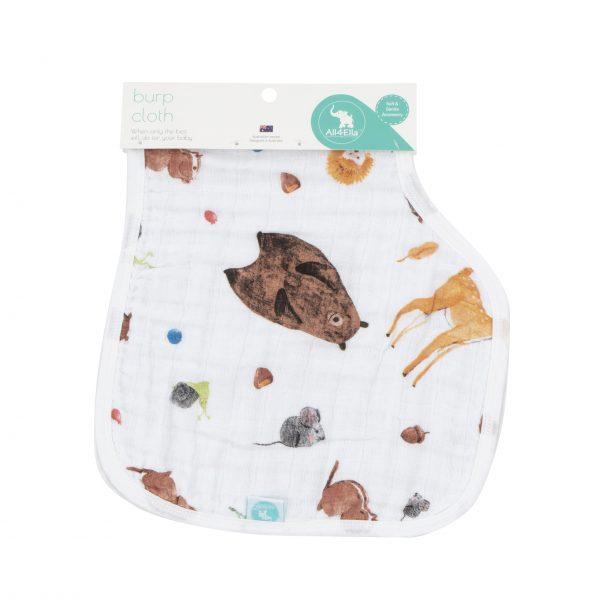 Muslin Burp Cloth Forest - All4Ella