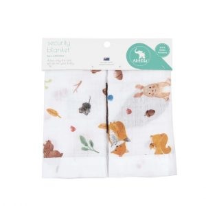 Muslin Security Blanket 2Pk Forest - All4Ella