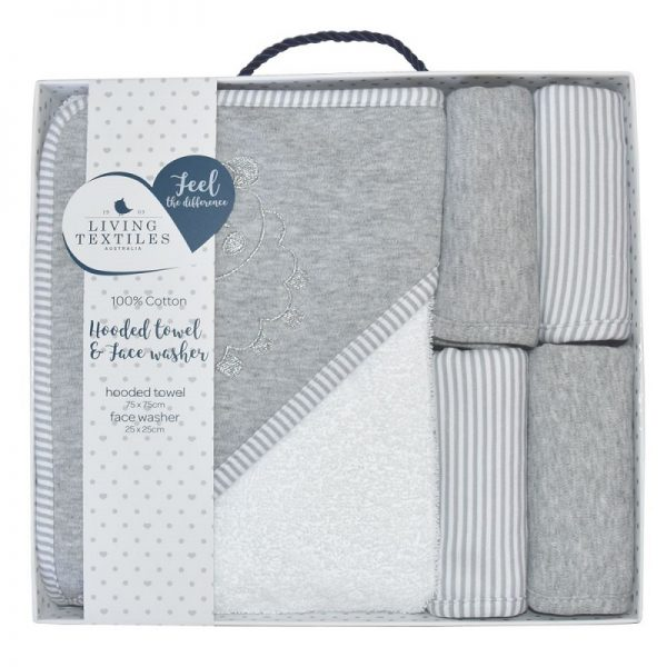5Pce Bath Gift Pack Grey - Living Textiles