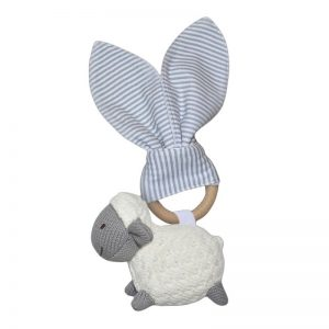 Teether Sheep Grey - Living Textiles
