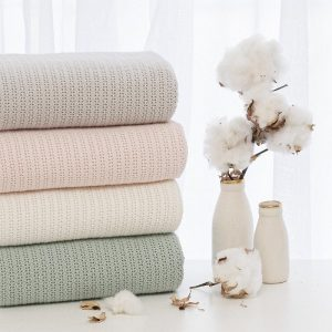 Organic Cotton Cellular Blankets - Living Textiles